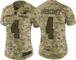 6fd773f8944 Nike Women's Salute to Service Dallas Cowboys Dak Prescott #4 Limited  Camouflage Jersey alternate 0