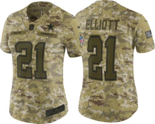 3b195204694 Nike Women's Salute to Service Dallas Cowboys Ezekiel Elliott #21 ...