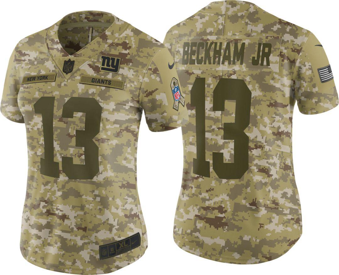 7841a6285 Nike Women's Salute to Service New York Giants Odell Beckham Jr. #13 ...
