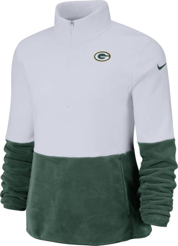 Nike Women's Green Bay Packers Therma-FIT Fleece Half-Zip Pullover product image