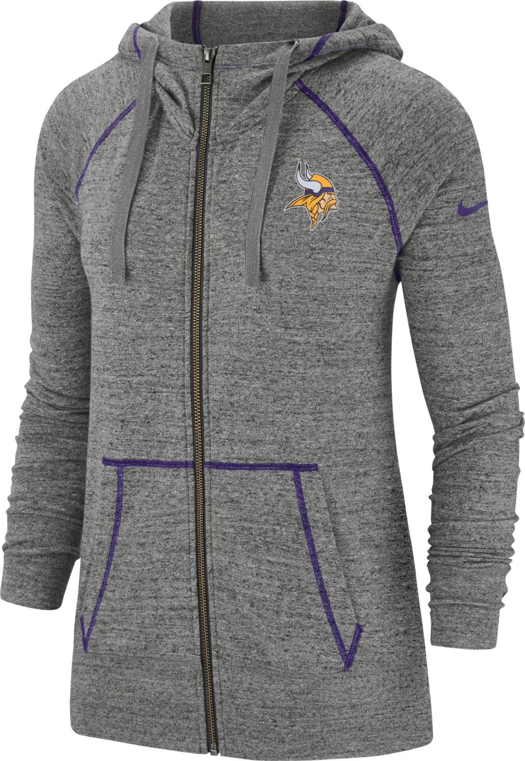 check out 1dc3d 62b03 Nike Women's Minnesota Vikings Vintage Grey Full-Zip Hoodie