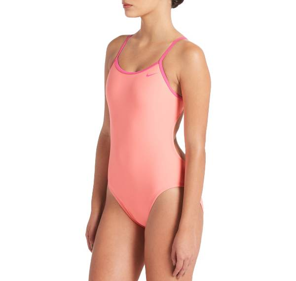 Nike Women's Solid Crossback Cutout One Piece Swimsuit product image