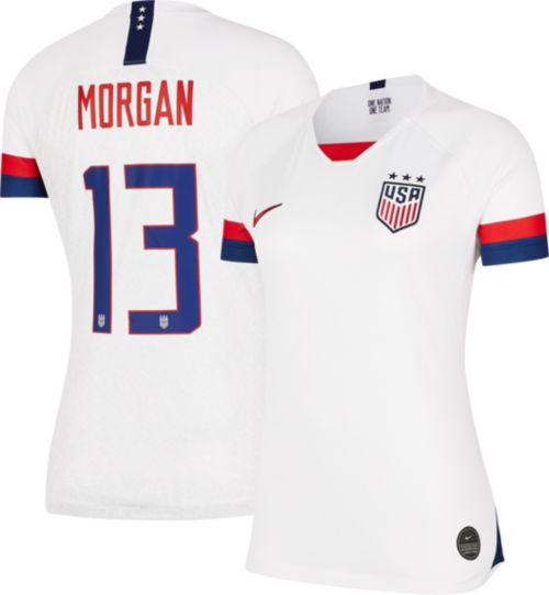 96374881c Nike Women s 2019 FIFA Women s World Cup USA Soccer Alex Morgan  13 Breathe  Stadium Home Replica Jersey. noImageFound. Previous