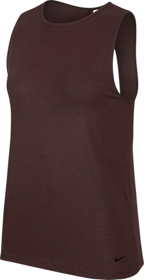 9e9bf33975d0f Nike Women s Studio Open Back Tank Top