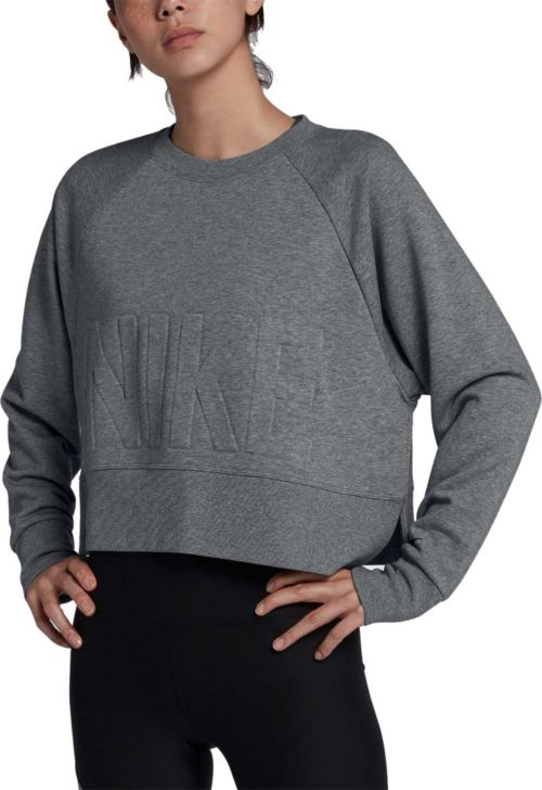 c5ad3a259e2 Nike Women's Dri-FIT Cropped Training Pullover | DICK'S Sporting Goods