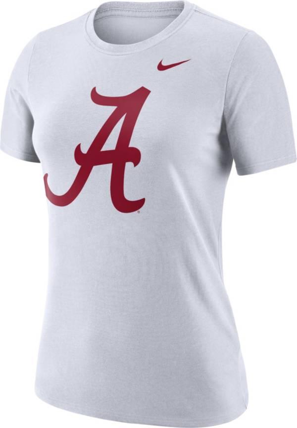 Nike Women's Alabama Crimson Tide Dri-FIT Logo Crew White T-Shirt product image
