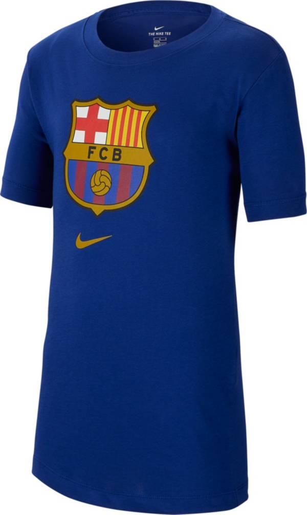 Nike Youth FC Barcelona '19 Crest Blue T-Shirt product image