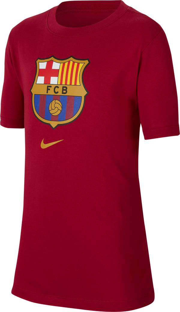 Nike Youth FC Barcelona '19 Crest Maroon T-Shirt product image