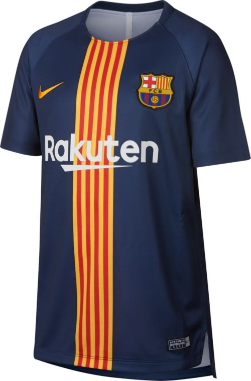 c634a8d5d8f Nike Youth FC Barcelona Black/Navy Prematch Top. noImageFound. Previous