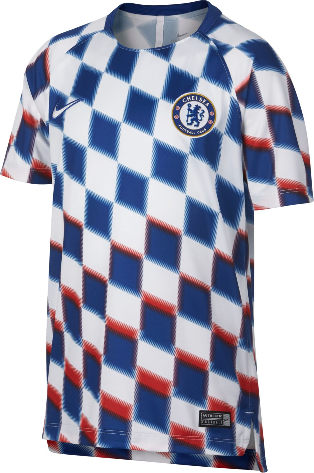 check out dde95 ac97c Nike Youth Chelsea FC Checkered Prematch Top