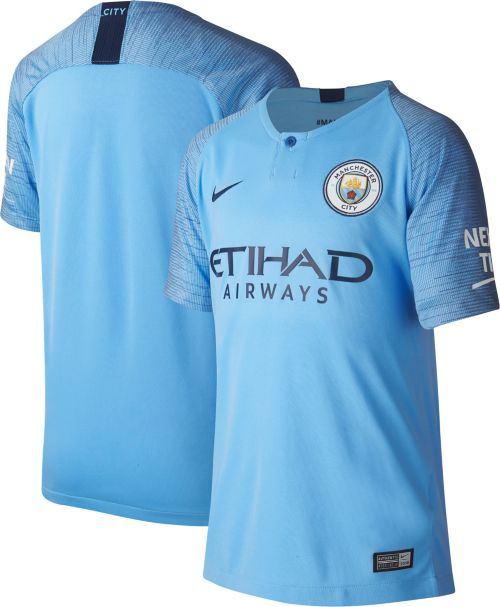 af56fee035cc4 Nike Youth Manchester City 2018 Breathe Stadium Home Replica Jersey.  noImageFound. Previous