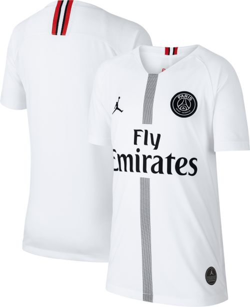 f36b0bb1bde3 Jordan Youth Paris Saint-Germain 18 19 Breathe Stadium White Third ...