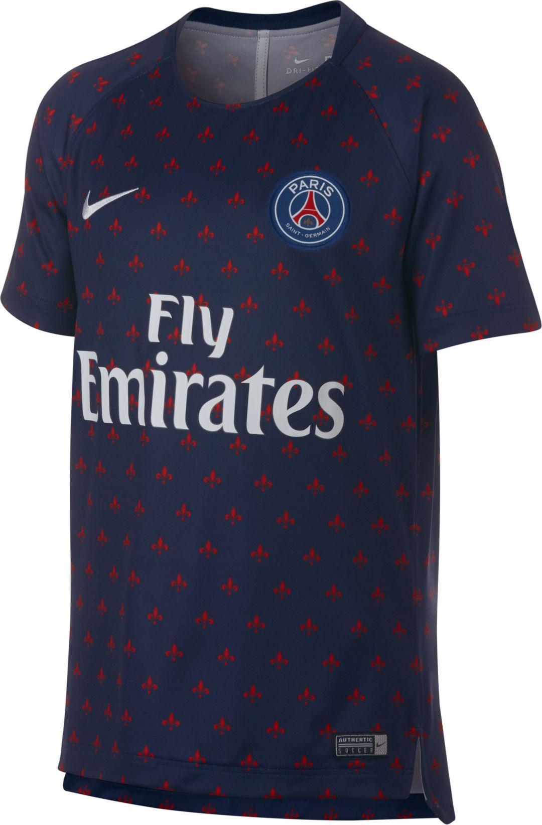 d7c11561d Nike Youth Paris Saint-Germain Navy Prematch Top | DICK'S Sporting Goods
