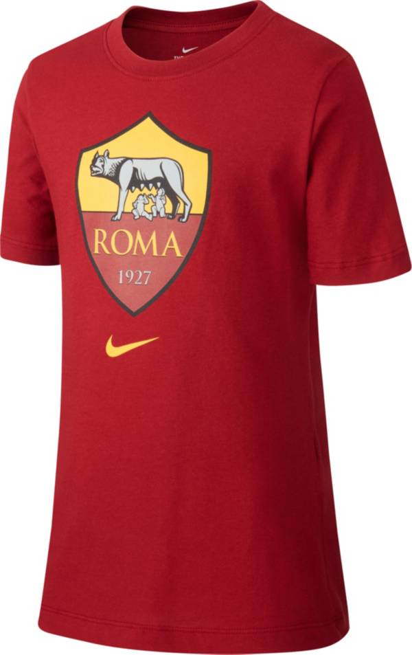 Nike Youth AS Roma '19 Crest Red T-Shirt product image