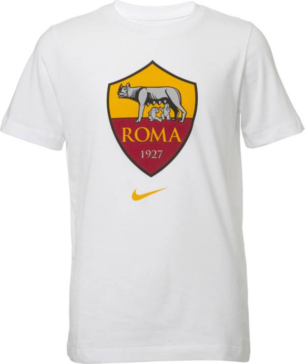 Nike Youth AS Roma '19 Crest White T-Shirt product image