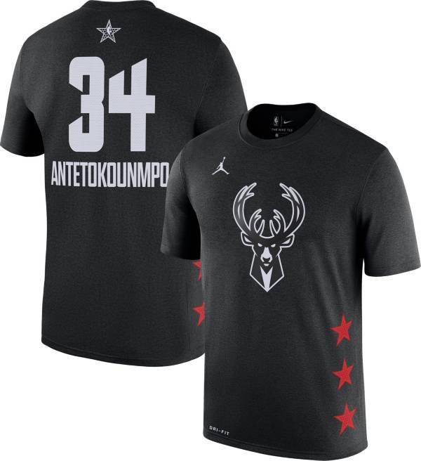 Jordan Youth 2019 NBA All-Star Game Giannis Antetokounmpo Dri-FIT Black T-Shirt product image