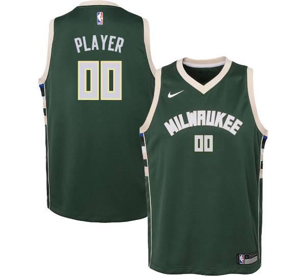 Nike Youth Full Roster Milwaukee Bucks Green Dri-FIT Swingman Jersey product image