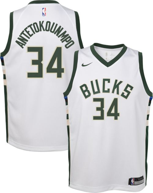 Nike Youth Milwaukee Bucks Giannis Antetokounmpo  34 White Dri-FIT Swingman  Jersey. noImageFound. Previous 5bffef70e
