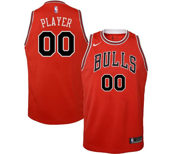 Nike Youth Full Roster Chicago Bulls Red Dri-FIT Swingman Jersey product image