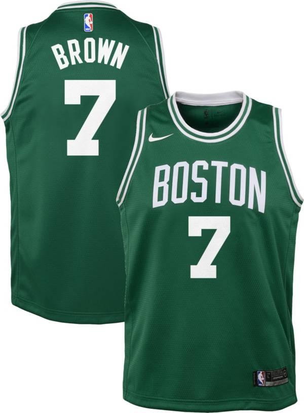 Nike Youth Boston Celtics Jaylen Brown #7 Kelly Green Dri-FIT Swingman Jersey product image