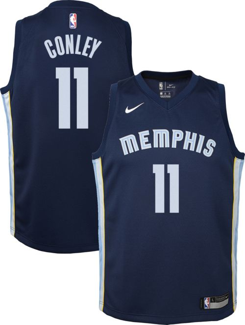 f5b8409fbe78 Nike Youth Memphis Grizzlies Mike Conley  11 Navy Dri-FIT Swingman Jersey.  noImageFound. Previous