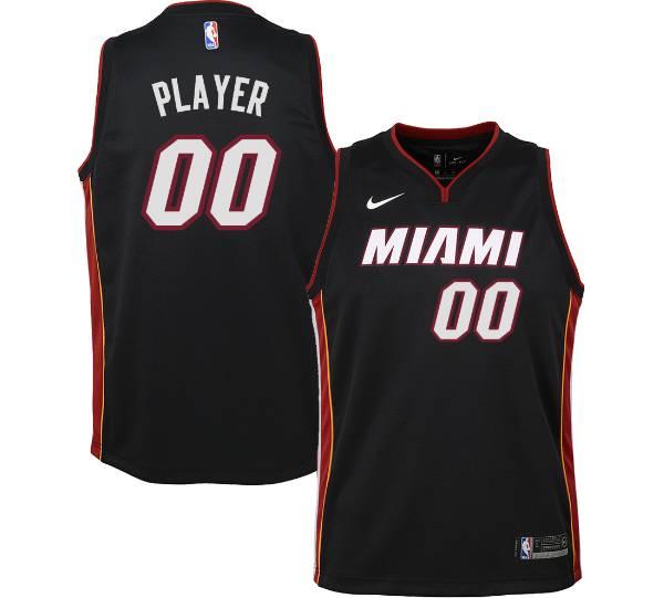 Nike Youth Full Roster Miami Heat Black Dri-FIT Swingman Jersey product image