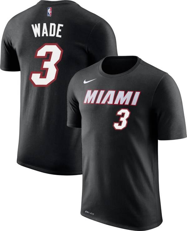Nike Youth Miami Heat Dwyane Wade #3 Dri-FIT Black T-Shirt product image