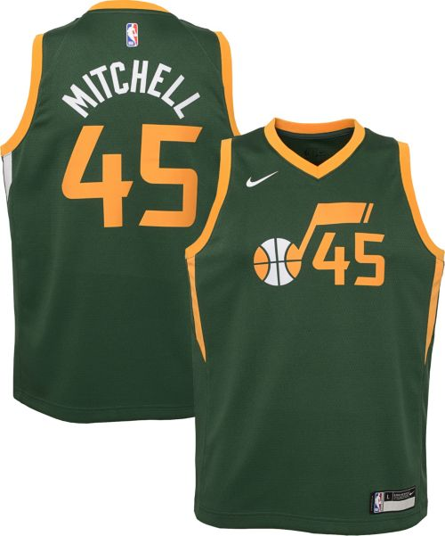 6868002b4104 Nike Youth Utah Jazz Donovan Mitchell Dri-FIT Earned Edition ...