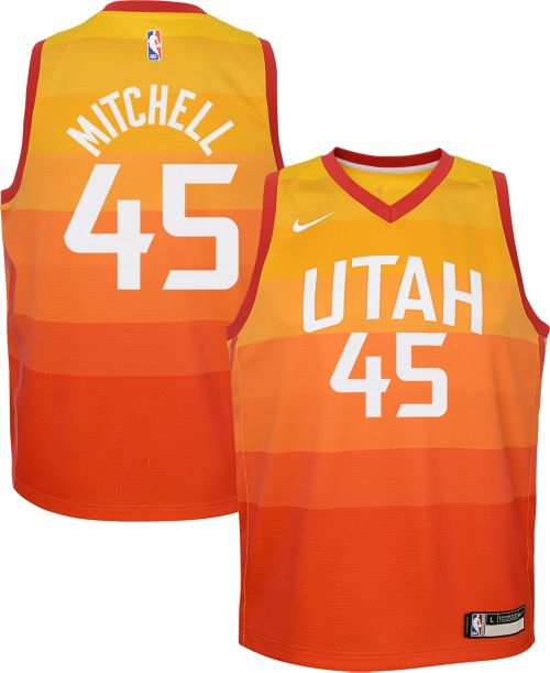 aa8cb309ad7 Nike Youth Utah Jazz Donovan Mitchell Dri-FIT City Edition Swingman ...