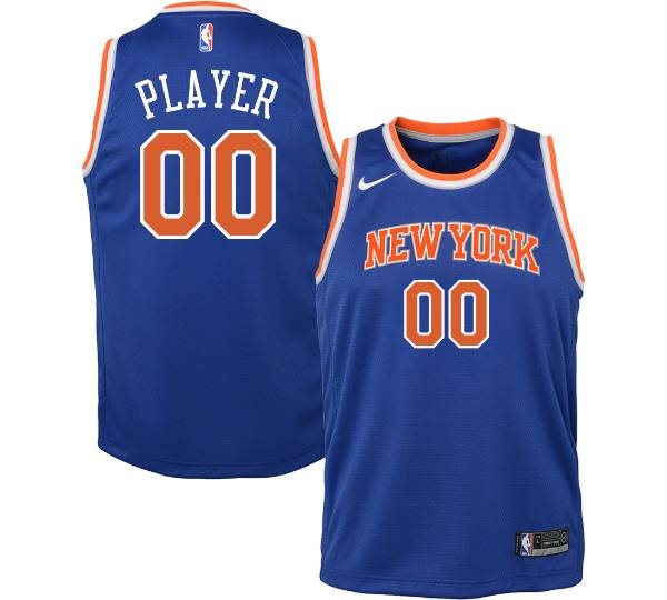 Nike Youth Full Roster New York Knicks Royal Dri-FIT Swingman Jersey product image
