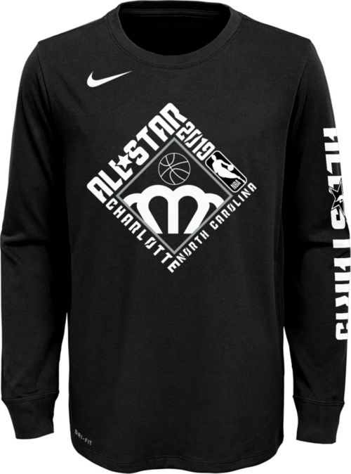 52b00fa0f Nike Youth 2019 NBA All-Star Game Dri-FIT Black Long Sleeve Shirt.  noImageFound. 1