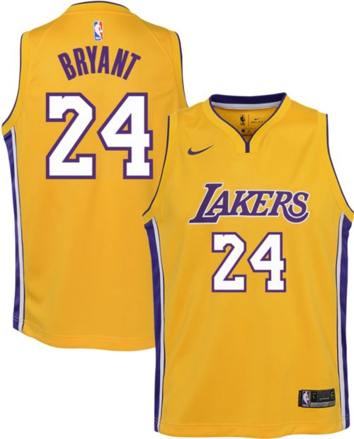 Nike Youth Los Angeles Lakers Kobe Bryant  24 Gold Dri-FIT Swingman Jersey.  noImageFound. Previous b35196377