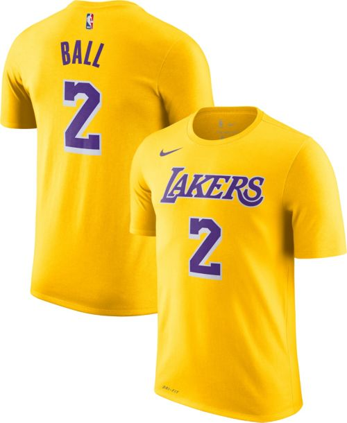 1ec69b1dff7 Nike Youth Los Angeles Lakers Lonzo Ball  2 Dri-FIT Gold T-Shirt.  noImageFound. Previous