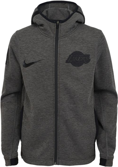 timeless design 3d4ec 77995 Nike Youth Los Angeles Lakers On-Court Dri-FIT Showtime Full-Zip ...