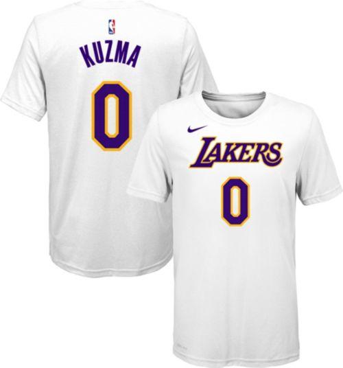 Nike Youth Los Angeles Lakers Kyle Kuzma  0 Dri-FIT White T-Shirt ... 43ab2c680873