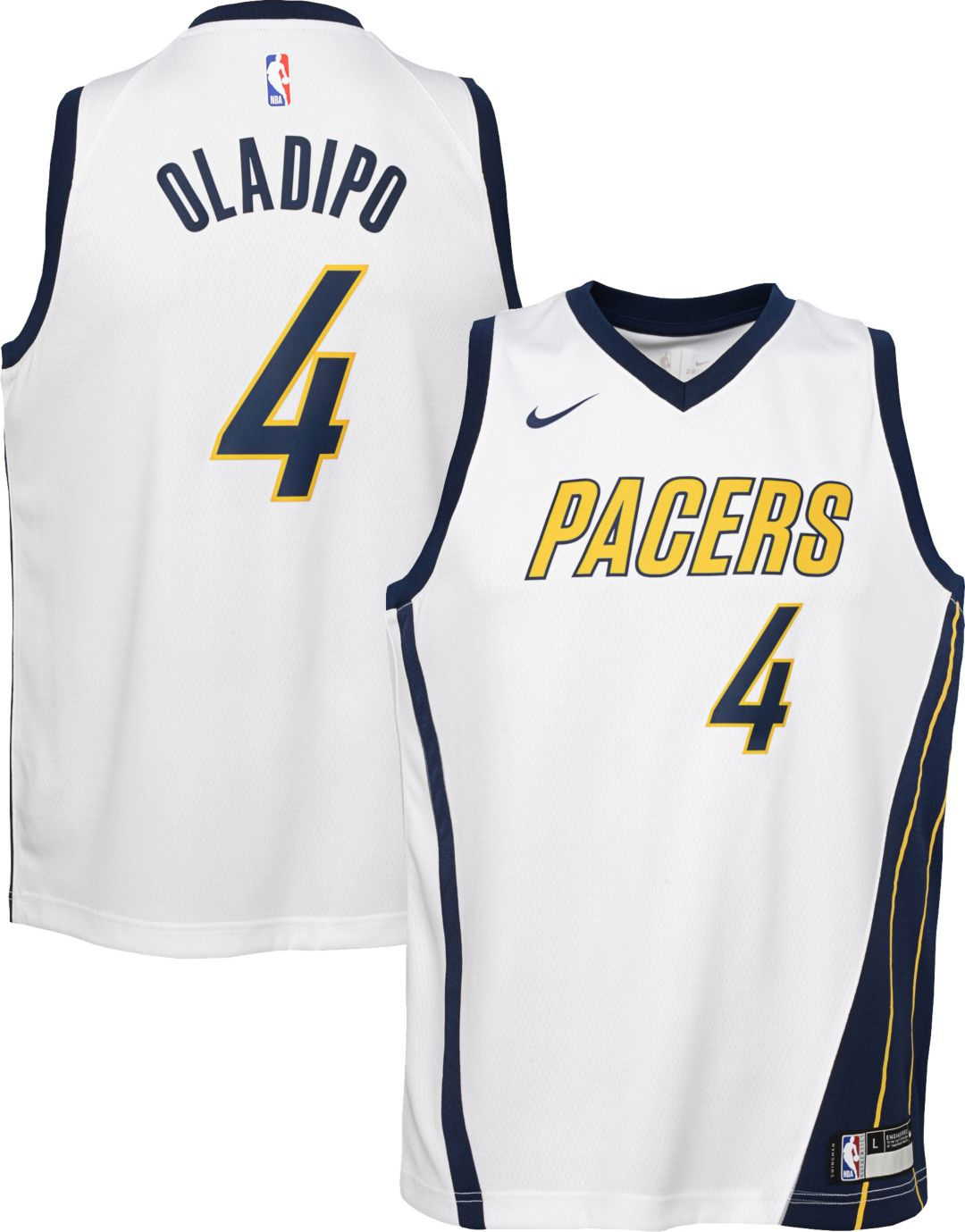 separation shoes 87169 4e15b Nike Youth Indiana Pacers Victor Oladipo Dri-FIT Earned Edition Swingman  Jersey