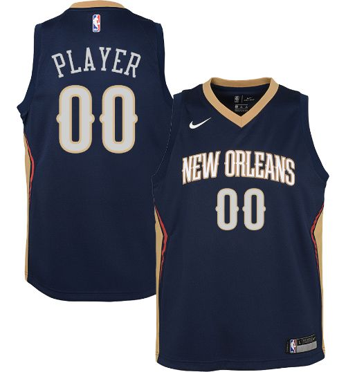a60b26176cf5 Nike Youth Full Roster New Orleans Pelicans Navy Dri-FIT Swingman ...