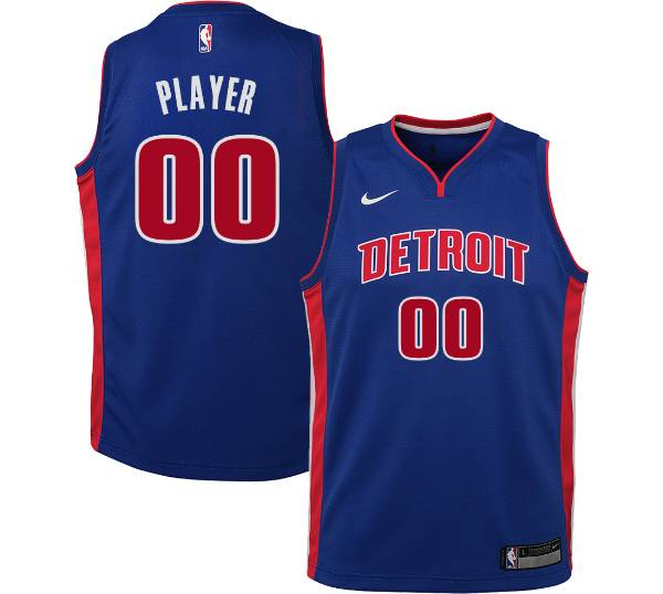 Nike Youth Full Roster Detroit Pistons Royal Dri-FIT Swingman Jersey product image