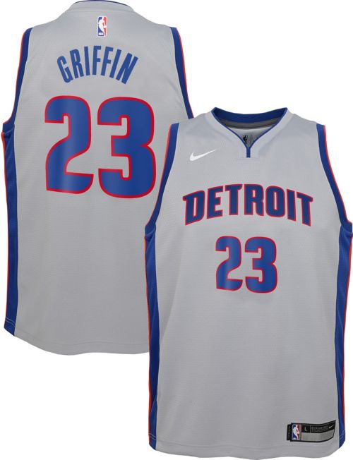 d55cd858d6f Nike Youth Detroit Pistons Blake Griffin  23 Grey Dri-FIT Swingman Jersey.  noImageFound. Previous