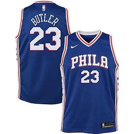 best sneakers f0b85 6f39e Nike Youth Philadelphia 76ers Jimmy Butler #23 Royal Dri-FIT Swingman Jersey