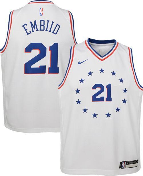 5cc49872be4a Nike Youth Philadelphia 76ers Joel Embiid Dri-FIT Earned Edition Swingman  Jersey. noImageFound. Previous