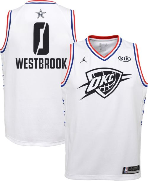 6b991631b4e9 Jordan Youth 2019 NBA All-Star Game Russell Westbrook White Dri-FIT Swingman  Jersey. noImageFound. Previous