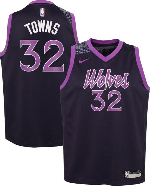 8c4feca290d Nike Youth Minnesota Timberwolves Karl-Anthony Towns Dri-FIT City ...