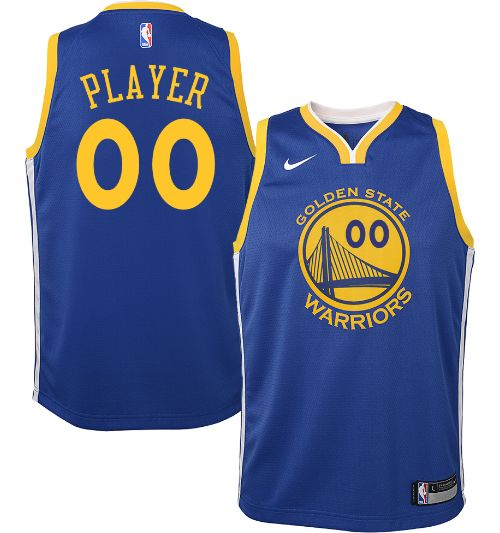 824e75e47b5 Nike Youth Full Roster Golden State Warriors Royal Dri-FIT Swingman ...