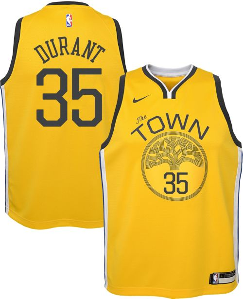 eb80c1f9505 Nike Youth Golden State Warriors Kevin Durant Dri-FIT Earned Edition  Swingman Jersey. noImageFound. Previous