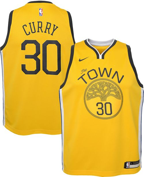 478da3c3fc92 Nike Youth Golden State Warriors Stephen Curry Dri-FIT Earned Edition  Swingman Jersey. noImageFound. Previous