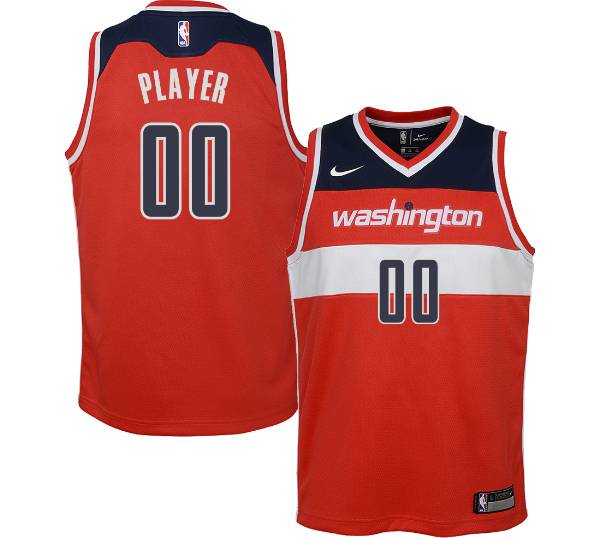 Nike Youth Full Roster Washington Wizards Red Dri-FIT Swingman Jersey product image
