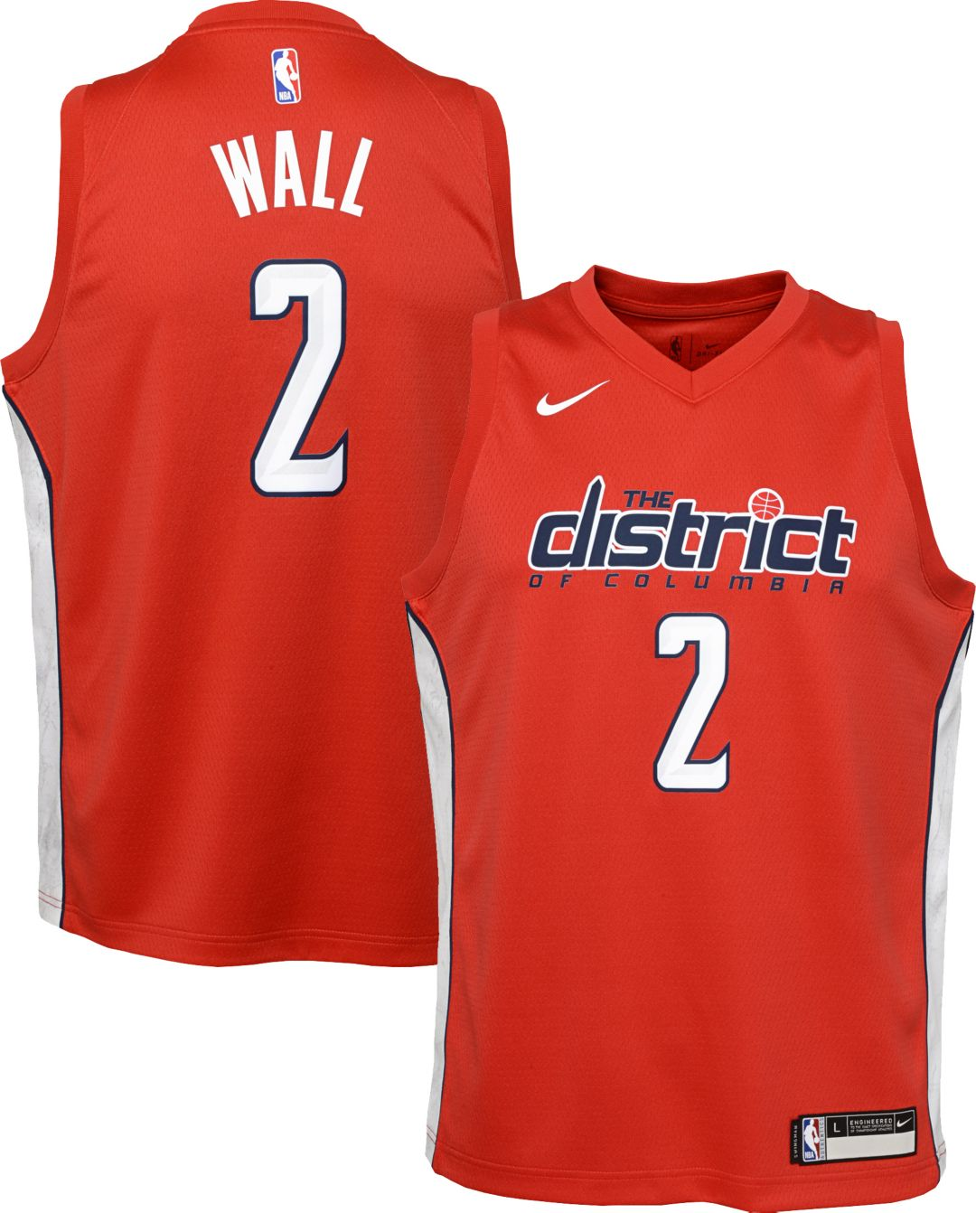 wholesale dealer a34af 8a2c5 Nike Youth Washington Wizards John Wall Dri-FIT Earned Edition Swingman  Jersey. noImageFound. Previous