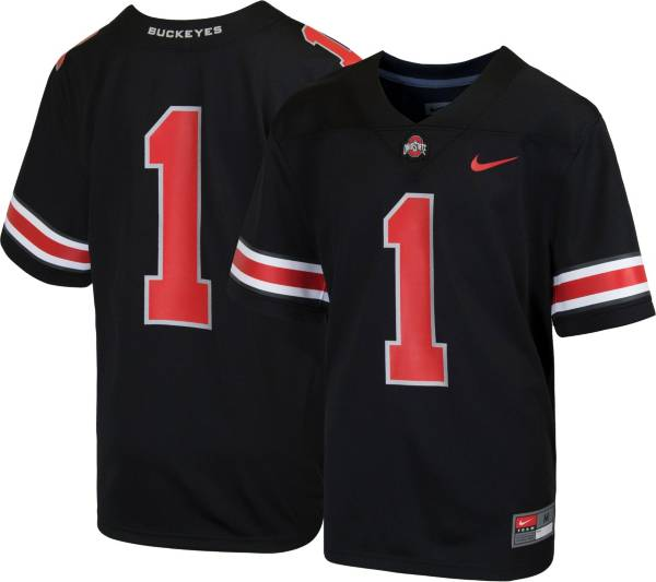 Nike Youth Ohio State Buckeyes #1 Game Football Black Jersey product image