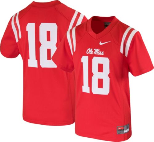 Nike Youth Ole Miss Rebels  18 Red Game Football Jersey. noImageFound.  Previous 37c9b0bcd